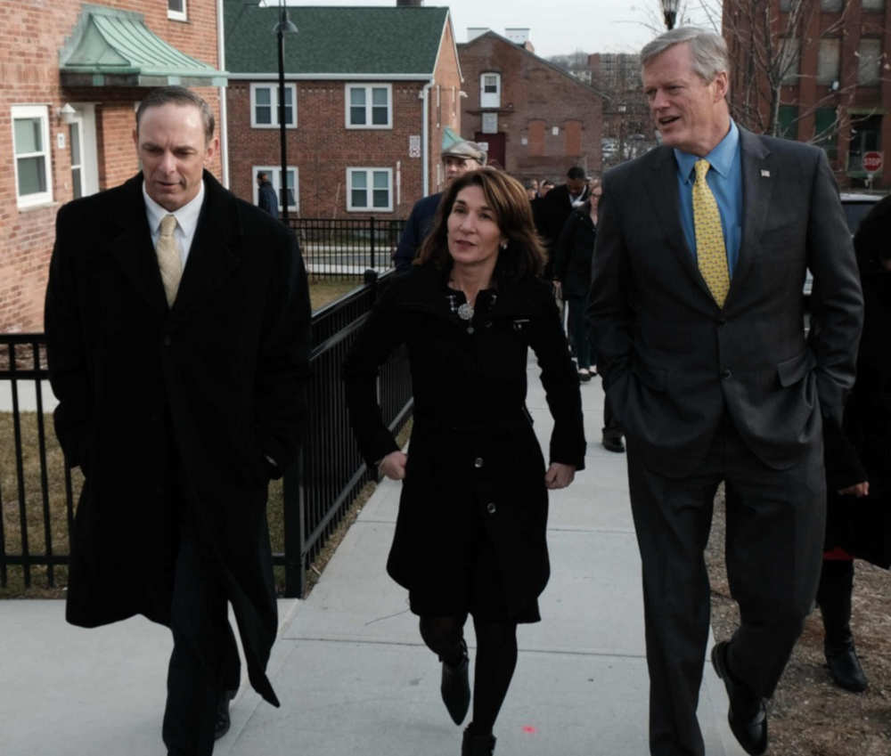 Massachusetts Gov. Charlie Baker, Lt. Gov. Karyn Polito 'Focus on Housing' during Holyoke visit